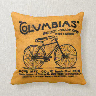 Stella Read Between the Lines Vintage Bicycle Throw Pillow