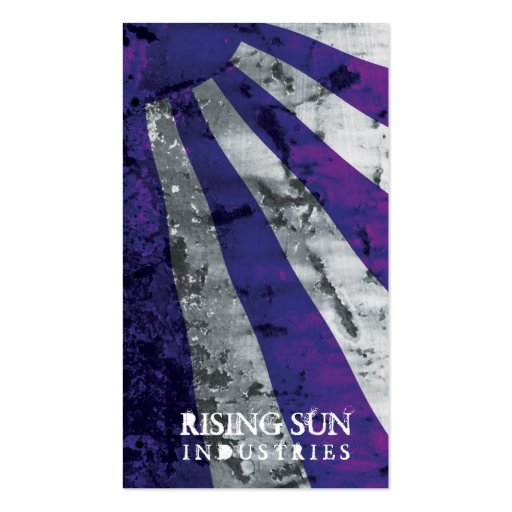 Stella Rising Sun Grunge Business Card Template