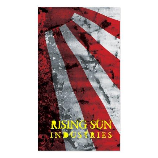 Stella Rising Sun Grunge Business Cards