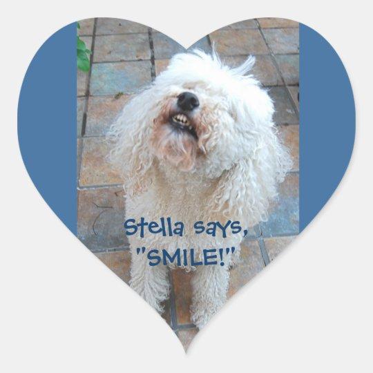 Stella Says Smile! Heart Sticker