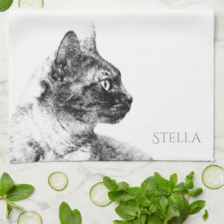 Stella the Grey Cat Towel