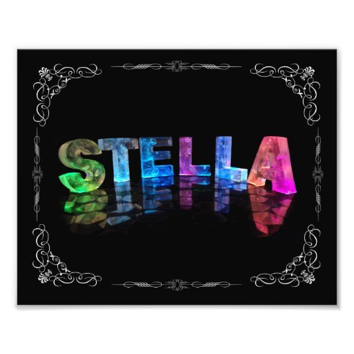 Stella  - The Name Stella in 3D Lights (Photograph