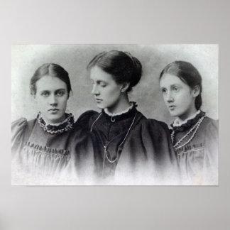 Stella, Vanesa y Virginia Stephen, c.1896 Posters