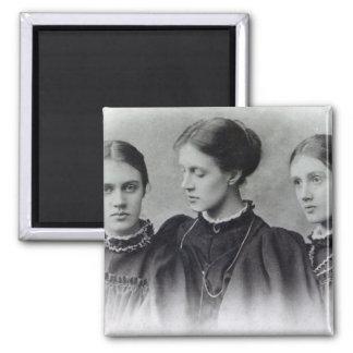Stella, Vanessa and Virginia Stephen, c.1896 2 Inch Square Magnet
