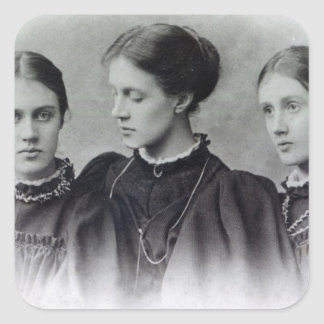 Stella, Vanessa and Virginia Stephen, c.1896 Square Sticker