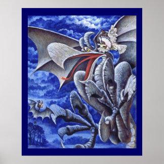 Stella y Aldred resuelven un Gargoyle Póster