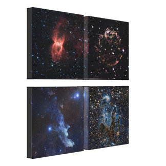 Stellar Artistry In Deep Space Canvas Print