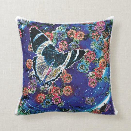 Stellar Blooms Throw Pillow