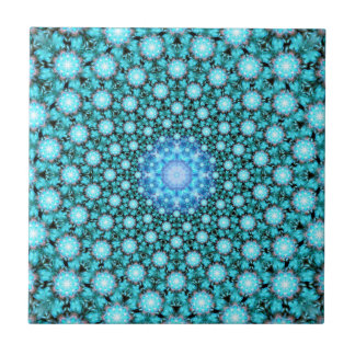 Stellar Cascade Mandala Tile