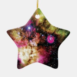 Stellar Cluster NGC 2467 Ceramic Ornament