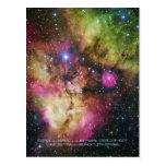 Stellar Cluster - NGC 2467, Constellation Puppis Post Cards