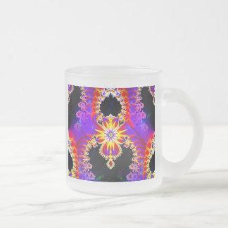 Stellar Crown Frosted Glass Coffee Mug