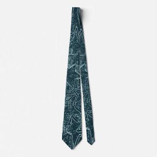Stellar Dark Blue Pattern Neck Tie
