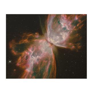 Stellar Demise in Nebula NGC 6302 Wood Wall Art