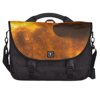 Stellar Flare Exoplanet  Space Art Laptop Messenger Bag