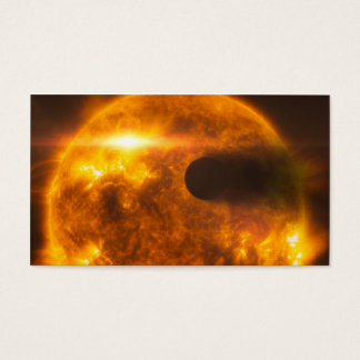Stellar Flare Exoplanet Star Space Art Business Card