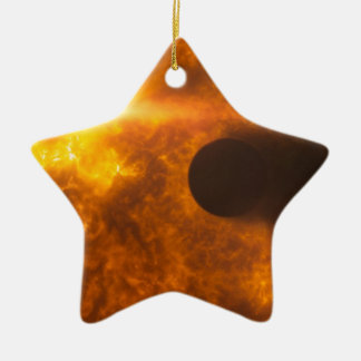 Stellar Flare Exoplanet Star Space Art Ceramic Ornament