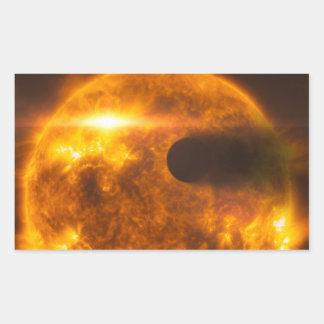 Stellar Flare Exoplanet Star Space Art Rectangular Sticker