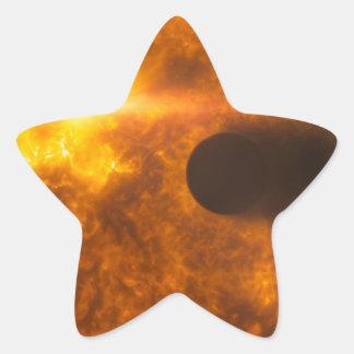 Stellar Flare Exoplanet Star Space Art Star Sticker