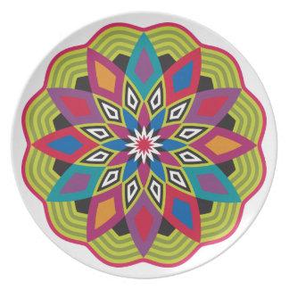 Stellar Flower Melamine Plates