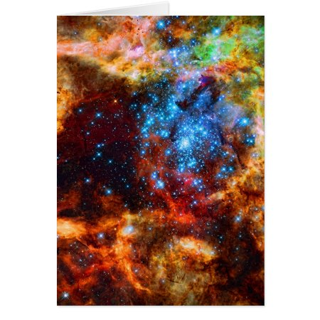 Stellar Group, Tarantula Nebula outer space image Card