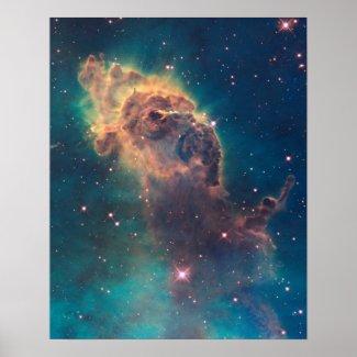 Stellar Jet in Carina Nebula Print print