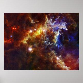 Stellar Nursery in Rosette Nebula Poster