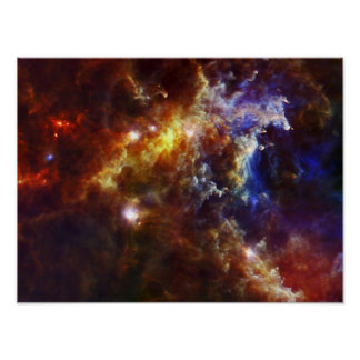 Stellar Nursery in the Rosette Nebula Poster