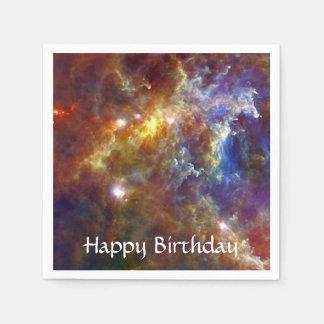 Stellar nursery in Unicorn Constellation Paper Napkins