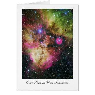 Stellar Nursery - Interview Good Luck Greeting Card