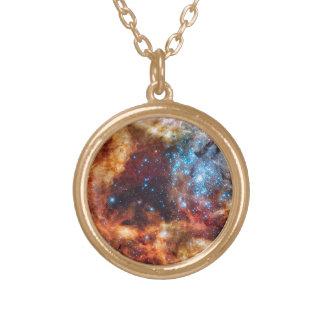 Stellar Nursery R136 Round Pendant Necklace