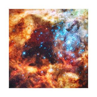 Stellar Nursery R136 Tarantula Nebula NASA Photo Canvas Print