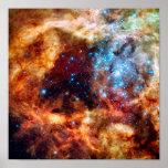 Stellar Nursery R136 Tarantula Nebula NASA Photo Poster