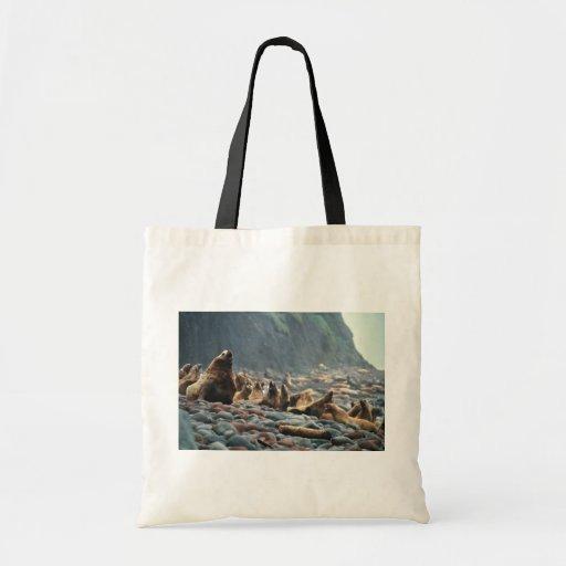 Stellar sea lions on Buldir Island Tote Bags