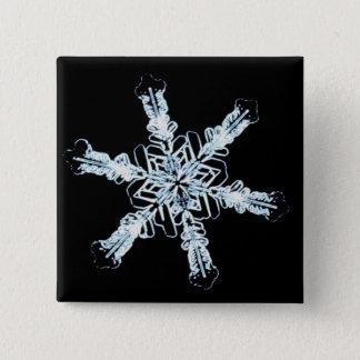 Stellar snow crystal button