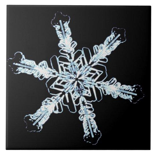Stellar snow crystal ceramic tile