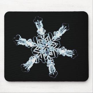 Stellar snow crystal mouse pad