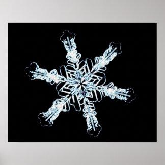 Stellar snow crystal poster