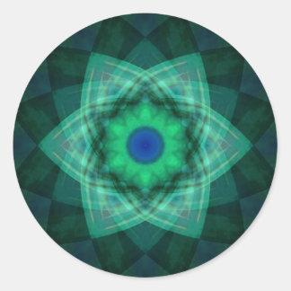 Stellar Verde Round Stickers