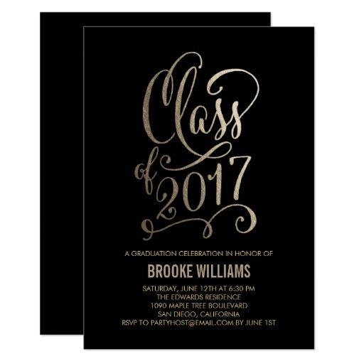 Stellar Year EDITABLE COLOR Graduation Invitation