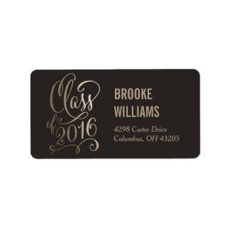 Stellar Year Editable Color Graduation Label