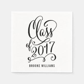 Stellar Year EDITABLE COLOR Graduation Napkins