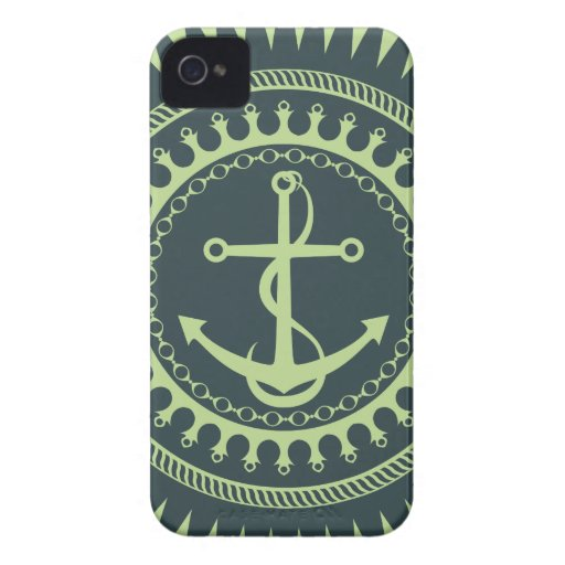 StellaRoot Anchor Down Neon iPhone 4 Case-Mate Cases