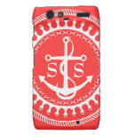 StellaRoot Anchor Down Pink Preppy Personalize Droid RAZR Covers