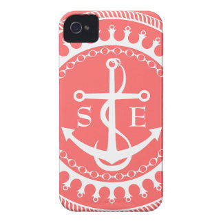 StellaRoot Anchor Down Pink Preppy Personalize iPhone 4 Case