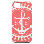 StellaRoot Anchor Down Preppy Personalize Initials iPhone 5 Cover