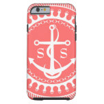 StellaRoot Anchor Down Preppy Personalize Initials Tough iPhone 6 Case