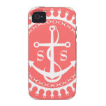 StellaRoot Anchor Down Preppy Personalize Initials Case-Mate iPhone 4 Case