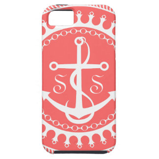 StellaRoot Anchor Down Preppy Personalize Initials iPhone 5 Case
