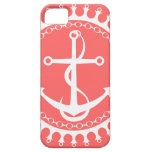 StellaRoot Anchor Down Preppy Pink iPhone 5 Cover